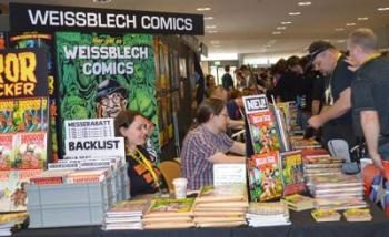 Unser Stand auf dem Comic-Salon in Erlangen