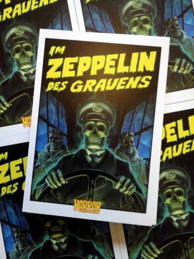 Zeppelin-Zombie-Postkarte